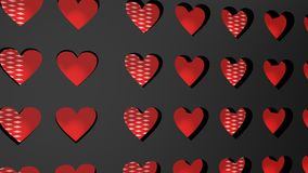 Valentine day 3d background Royalty Free Stock Photography