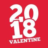 Valentine Day d'image rose de vecteur du fond 2018 Images stock