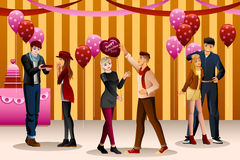 Valentine Day Dance Party Foto de Stock Royalty Free