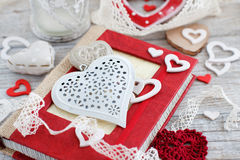 Valentine day decorations Stock Images