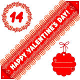 Valentine day design elements Stock Photos