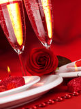 Valentine day dinner Royalty Free Stock Photo