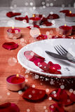 Valentine' day dinner stock image