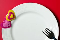 Valentine day dinner royalty free stock images