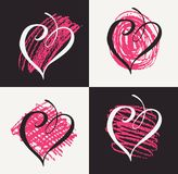 Valentine day doodle hearts. Vector illustration. Royalty Free Stock Images