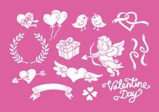 Valentine Day Doodle Set 2 Imágenes de archivo libres de regalías