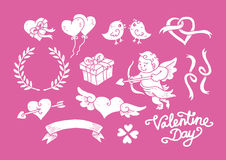 Valentine Day Doodle Set 2 Royalty Free Stock Images