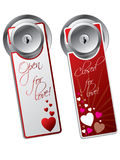 Valentine day door hangers Royalty Free Stock Photography
