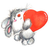 Valentine Day ed animale sveglio Fotografia Stock