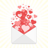 Valentine day envelopes vector. Royalty Free Stock Photography