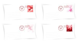 Valentine day envelops Stock Image