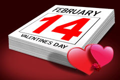 Valentine day February 14th Stock Photo