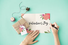 Valentine Day February Celebrate Affections-Liebe Stockfotos
