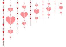 Valentine Day feliz - corazón rojo - fondo - tarjeta de felicitación Fotos de archivo libres de regalías