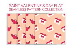 Valentine day flat icon set Royalty Free Stock Photo