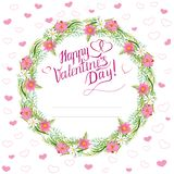 Valentine Day-Floral garland2 ilustração do vetor