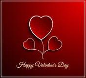 Valentine day flower heart Stock Photos