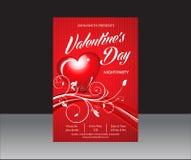 Valentine Day Flyer abstrato ilustração do vetor