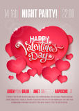 Valentine Day flyer Stock Image