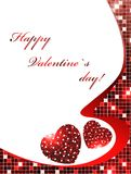 Valentine day frame Royalty Free Stock Images
