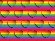 Valentine Day Gay Heart Seamless-Muster Backgroun Lizenzfreie Stockfotos