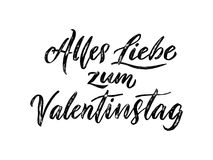 Valentine Day German text Valentinstag greeting card Royalty Free Stock Photo