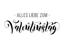Valentine Day German text Valentinstag greeting card Stock Image