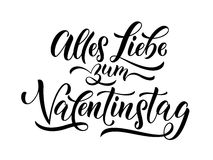 Valentine Day german text Valentinstag greeting card Royalty Free Stock Photography