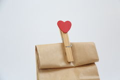 Valentine Day Gift Lizenzfreies Stockfoto