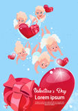 Valentine Day Gift Card Holiday Amour Love Cupid Heart Shape Royalty Free Stock Image