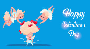 Valentine Day Gift Card Holiday Amour Love Cupid Heart Shape Royalty Free Stock Images