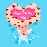 Valentine Day Gift Card Holiday Amour Love Cupid Heart Shape Stock Photography