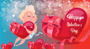 Valentine Day Gift Card Holiday Amour Love Cupid Heart Shape Royalty Free Stock Photo