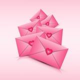 Valentine Day Gift Card Holiday-de Vorm van het Liefdehart stock illustratie