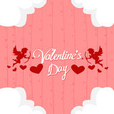 Valentine Day Gift Card Holiday Love Heart Shape Angel Royalty Free Stock Photo