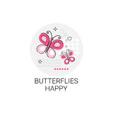 Valentine Day Gift Card Holiday Love Icon Stamp Stock Photo