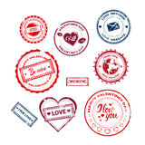 Valentine Day Gift Card Holiday Love Sticker Stamp Collection Royalty Free Stock Image