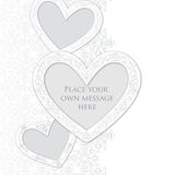 Valentine Day Gift card with love heart. Royalty Free Stock Photos
