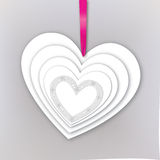 Valentine Day Gift card with love heart. Royalty Free Stock Images