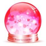 Valentine day globe Stock Photography