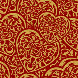 Valentine day gold seamless wallpaper pattern. With heart Royalty Free Stock Photography