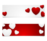 Valentine Day graphic design with hearts Royalty Free Stock Photo