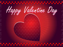Valentine Day Greeting. Card red Stock Photo