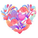 Valentine Day Greeting Card illustration stock