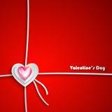 Valentine Day Greeting Card Fotografia Stock Libera da Diritti