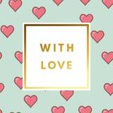 Valentine Day Greeting Card Stock Foto