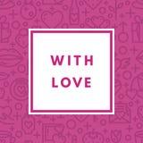 Valentine Day Greeting Card Stock Afbeeldingen