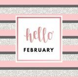 Valentine Day Greeting Card Royalty-vrije Stock Afbeelding