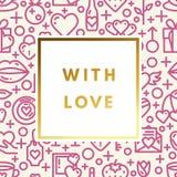 Valentine Day Greeting Card Royalty-vrije Stock Foto's