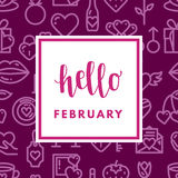 Valentine Day Greeting Card Stock Fotografie